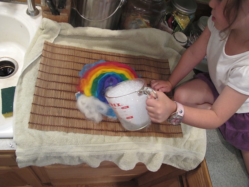 Summer Wet Felting: Rainbow#10