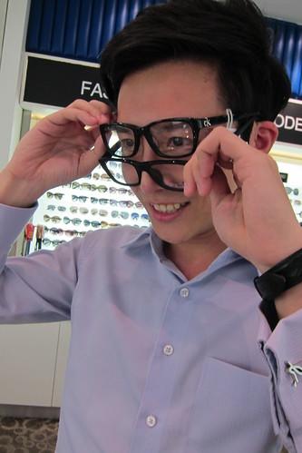Colin Choosing Specs