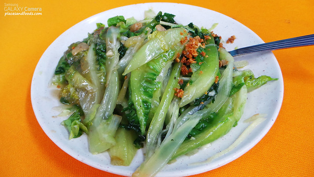 tiga lettuce with oyster sauce