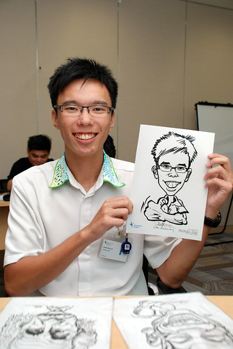 caricature live sketching for Khoo Teck Puat Hospital, Nurses' Day - 16