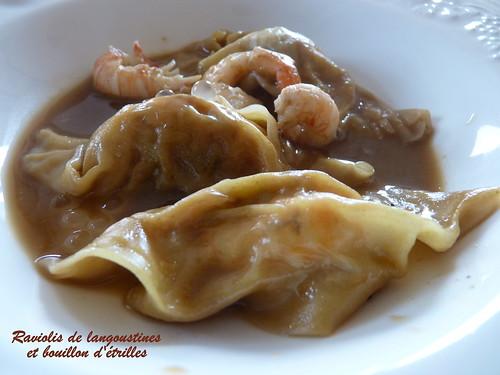 Raviolis (wontons) chinois aux langoustines