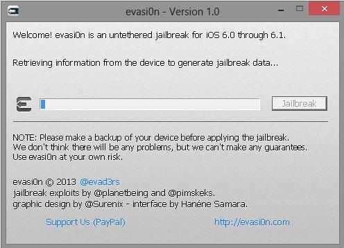 Evasi0n iOS 6.1 jailbreak process
