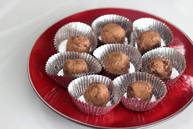 Dark Chocolate Red Wine Truffles - Gluten-Free + Vegan