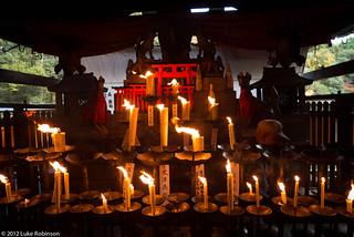 Votive candle offerings, Fushimi Inari Shrine, Kyoto