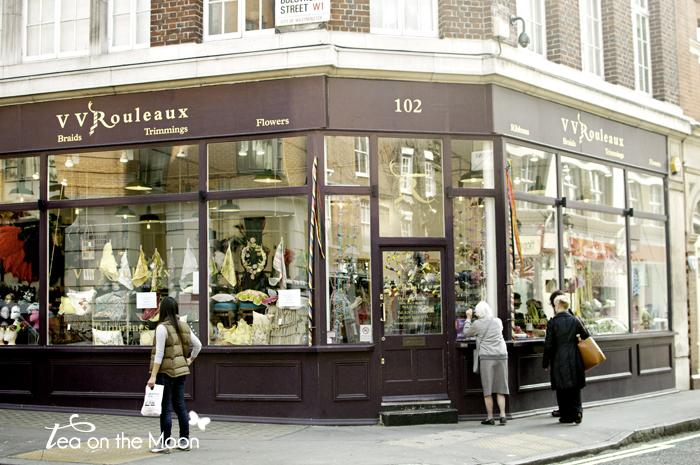 Londres Marylebone lane london shopping 01