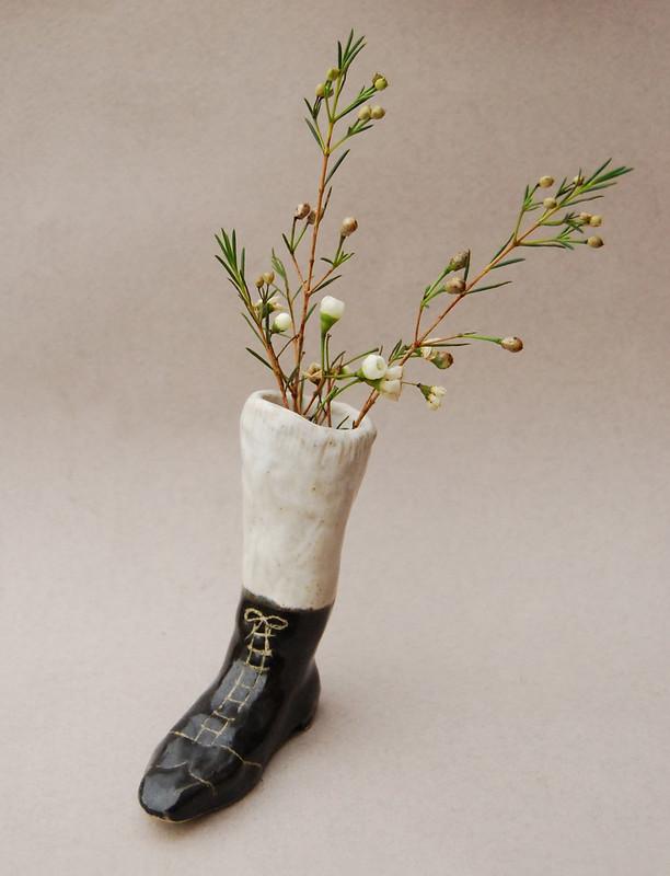 ceramic boot vase 2