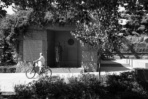 "Image titled ""Cyclist, Eleanor Roosevelt Memorial."""