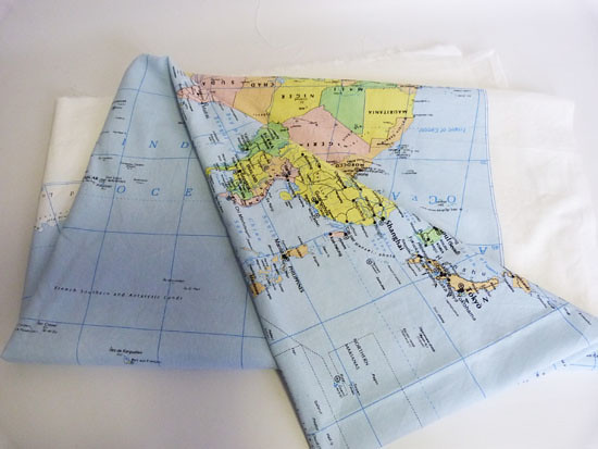 World map fabric aol image search results gumiabroncs Choice Image