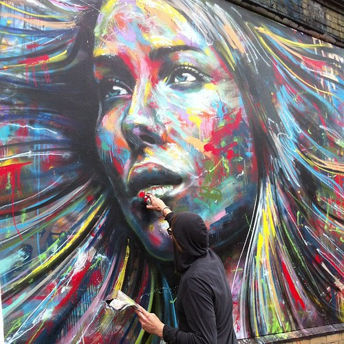 david walker in london. very happy to meet him by www.urbanpainting.info