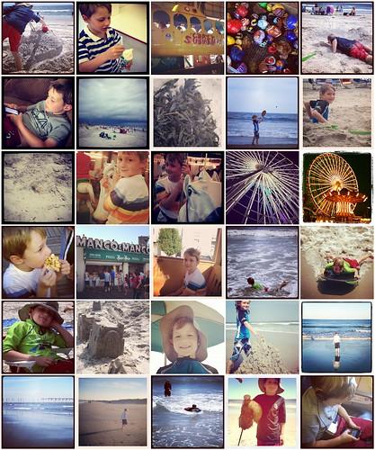Ocean City trip Instagram collage