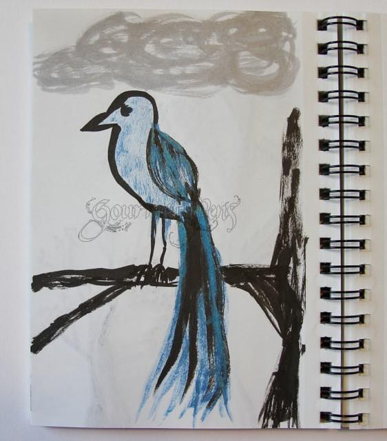 Brush Doodle - Bird