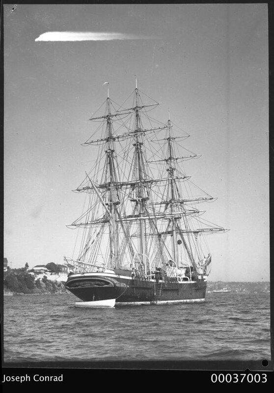 JOSEPH CONRAD at anchor, Sydney Harbour