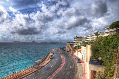 sea mer seascape storm france clouds marseille view provence nuages paysage hdr orage 3xp roucasblanc cornichejfkennedy