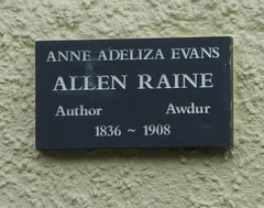 Photo of Anne Adeliza Evans black plaque