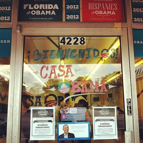 Este sábado partidarios y voluntarios celebraron el gran estreno de la nueva oficina Casa Obama en Tampa.