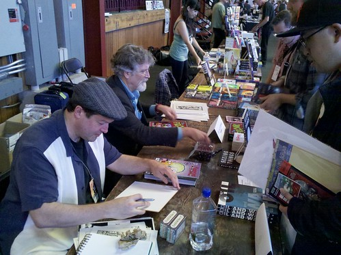 Shannon Wheeler & Jim Woodring at APE 2012