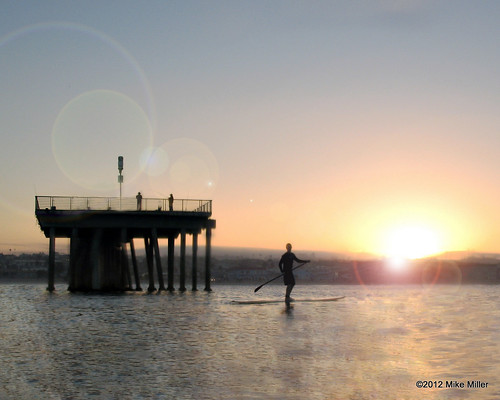 ocean ca beach water sunrise photo surf board paddle sup hermosabeach