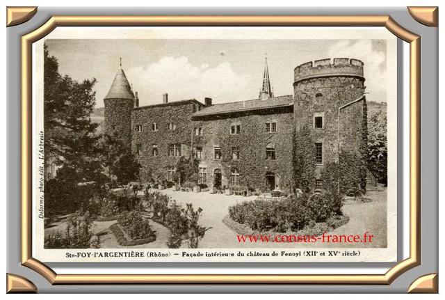 Ste Foy-l'Argentière - Facade intérieure du Château de Fenoyl -70-150