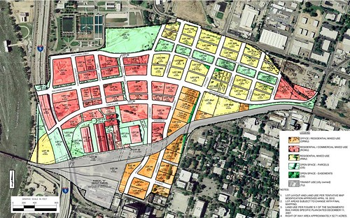 Sacramento Railyards conceptual site plan (courtesy of Inland American)
