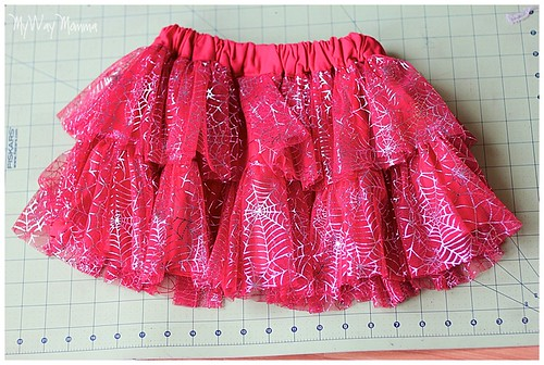 MWM Red 2 tier Halloween Skirt Oct 2012 14