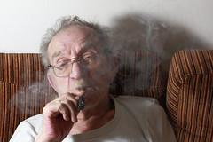 Shmulik Vash Smokes Nicotine Free Cigarette