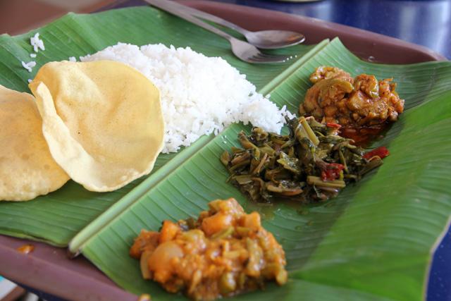 Rewarding meal at the Batu Caves