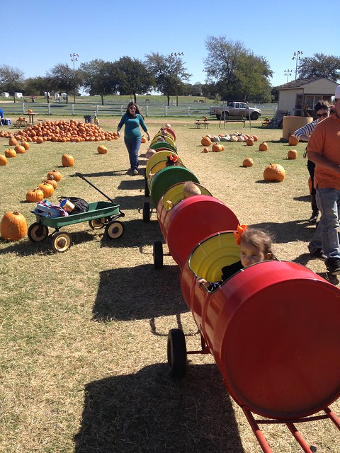 playgroup barrel train