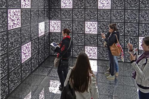 Visiteurs du pavillon national russe