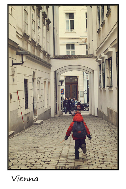 Sending Postcards is our way of helping the post offices worldwide...so they don't shut down. #cobblestones #viennastreetscene
