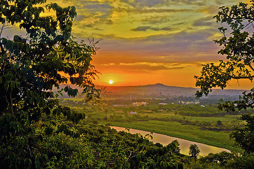 sunset mountain nature river ethiopia bahirdar colorfulsky amhara