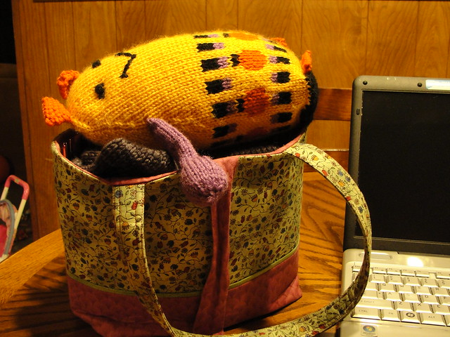 Pumpkin Patch the Knitted Monster