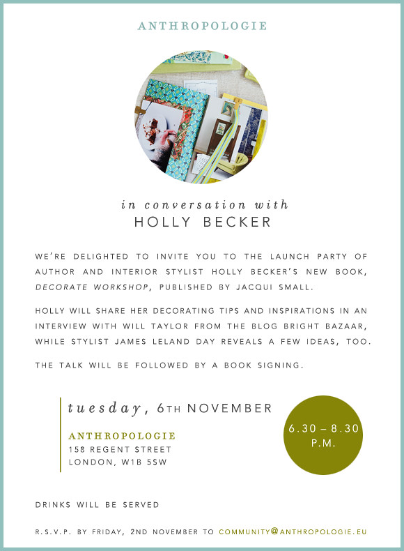 Meet Me in London for the Launch of Decorate Workshop!