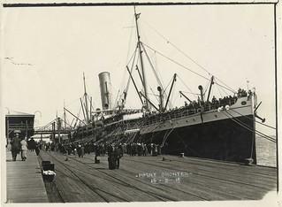 Troopship ORONTES, Melbourne
