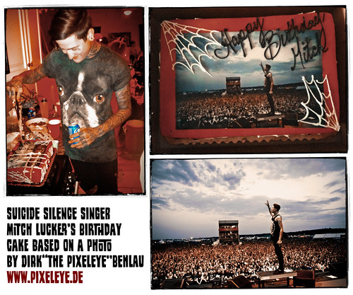 Suicide Silence // Mitch Lucker Birthday Cake - photo by The Pixeleye
