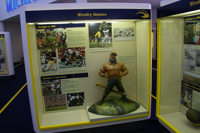 paul bunyan trophy at the margaret dow towsley sports