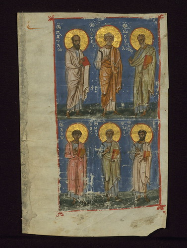The Four Evangelists and Two Apostles, The four evangelists and the two chief apostles, Walters Manuscript W.530.C, fol. 211r by Walters Art Museum Illuminated Manuscripts