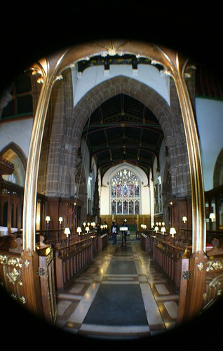 Inside Leicester Cathedral