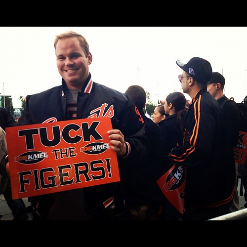 Tuck the figers #giants #worldseries