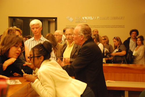 Eric Overmyer and Kandi Alexander from Treme at Los Angeles Central Library on June 6, 2011