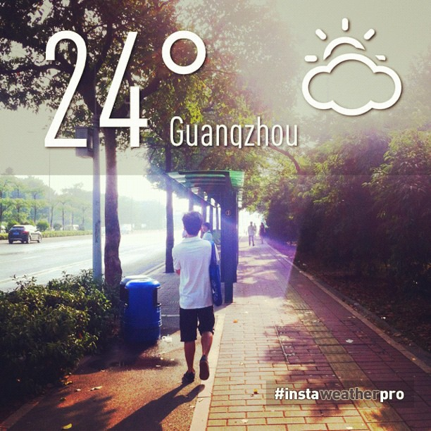 暖暖〜好舒服〜 早安^_^#weather #sky #instaweather #instaweatherpro #China #Guangzhou