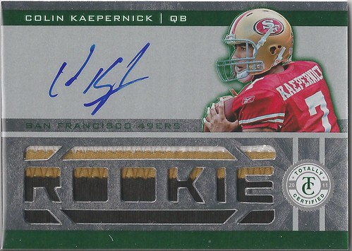 2011 Totally Certified Green #210 Colin Kaepernick JSY AU (5 of 5)