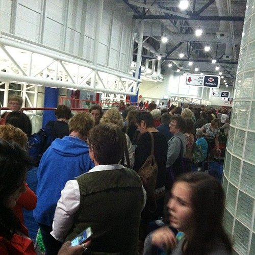 300:365 Line for Sample Spree. Get ready for some craziness!! #quiltmarket