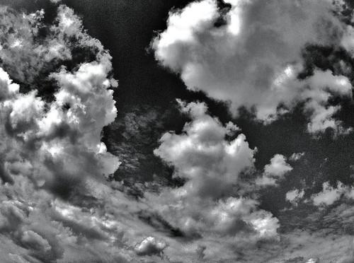 [フリー画像素材] 自然風景, 空, 雲, モノクロ ID:201211011200