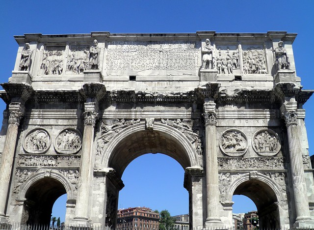 Arch of Constantine, South face, Rome