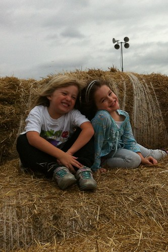 Catie and Morgan at the farm
