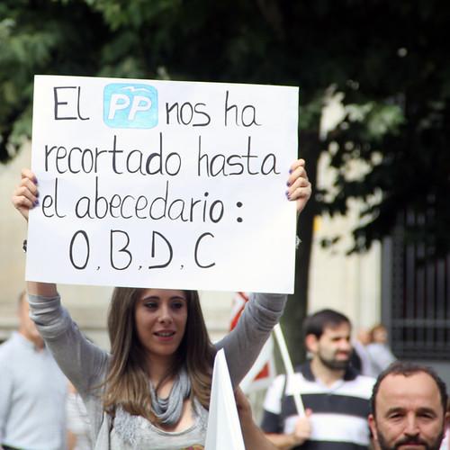 MANIFESTACION DE LA CUMBRE SOCIAL EN CONTRA DE LOS RECORTES - LEÓN 7.10.12