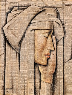 Ramos Martinez, Alfredo (1871-1946) - 1934 Head of a Nun