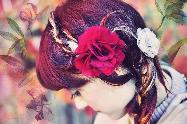 flowers and braids