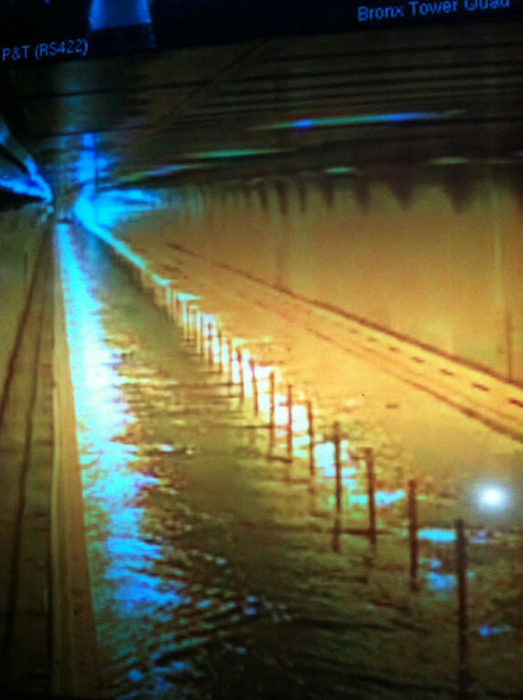 Floodwaters enter Hugh L. Carey Tunnel