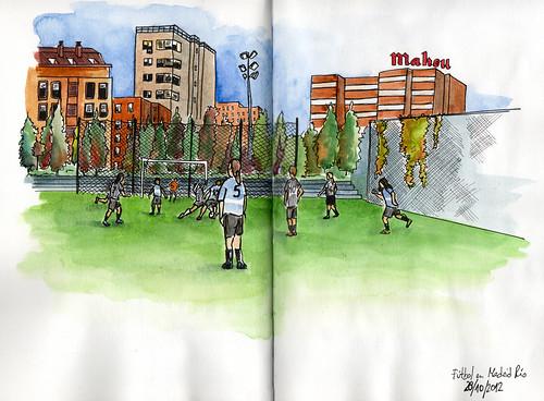 Fútbol en Madrid Río
